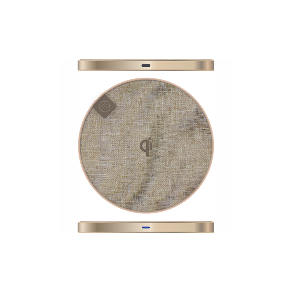 A large main feature product image of ALOGIC Prime Series Wireless Charging Pad - 10W - Champagne Gold