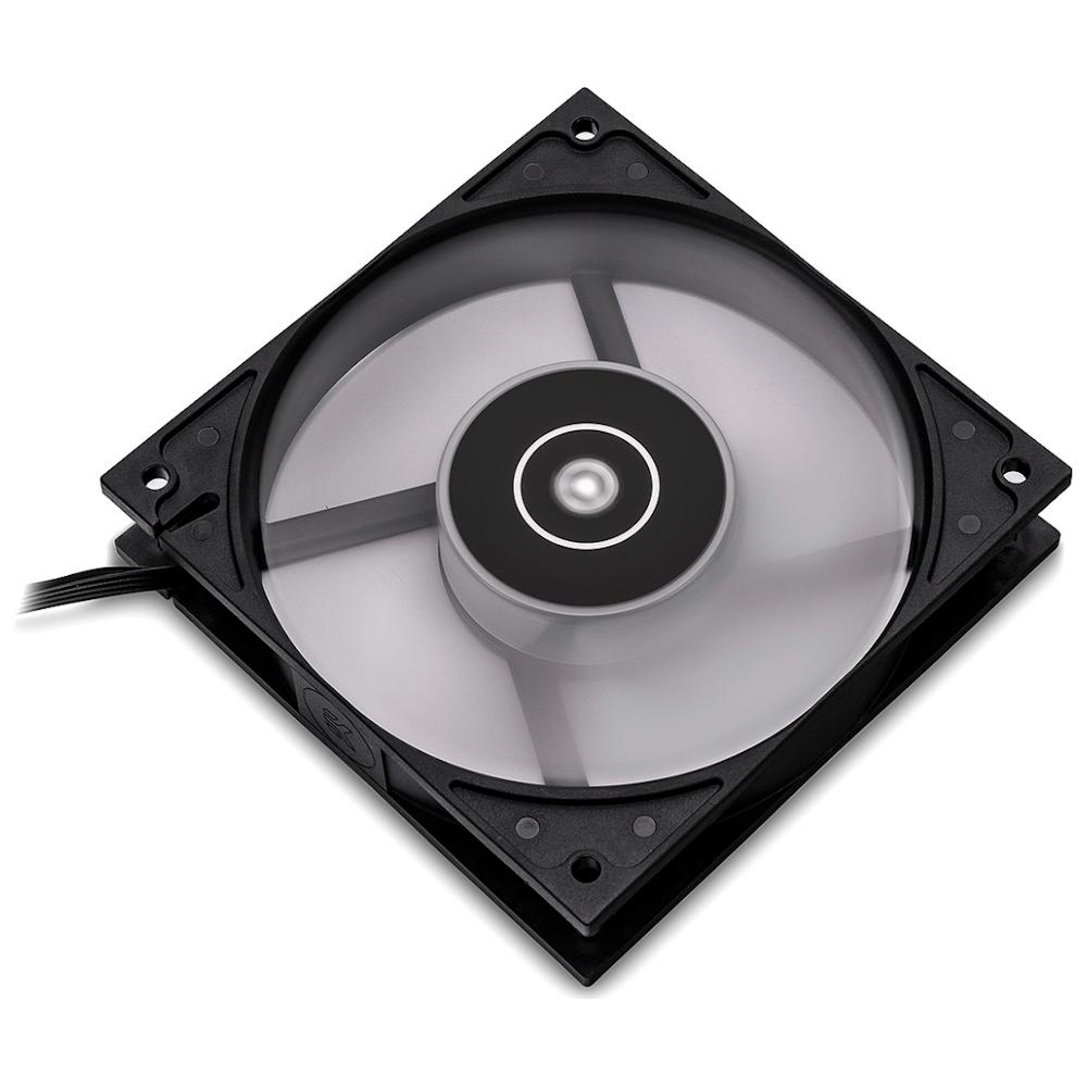 A large main feature product image of EK Vardar EVO 120ER RGB 120mm Cooling Fan