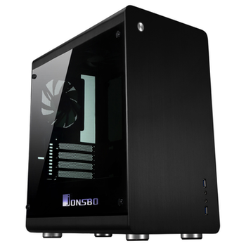 Product image of Jonsbo RM3 RGB Black mATX Case w/Tempered Glass Side Panel - Click for product page of Jonsbo RM3 RGB Black mATX Case w/Tempered Glass Side Panel