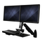 A small tile product image of Startech Wall Mounted Sit Stand Desk - For Two Monitors up to 24""