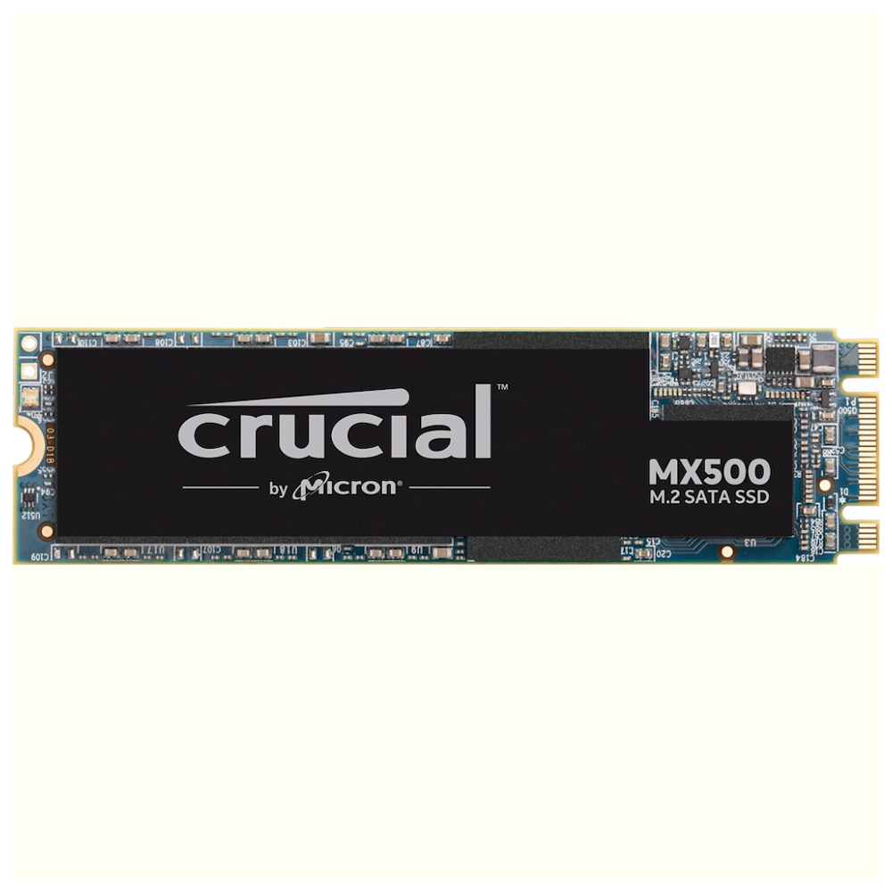 A large main feature product image of Crucial MX500 1TB M.2 2280 SSD