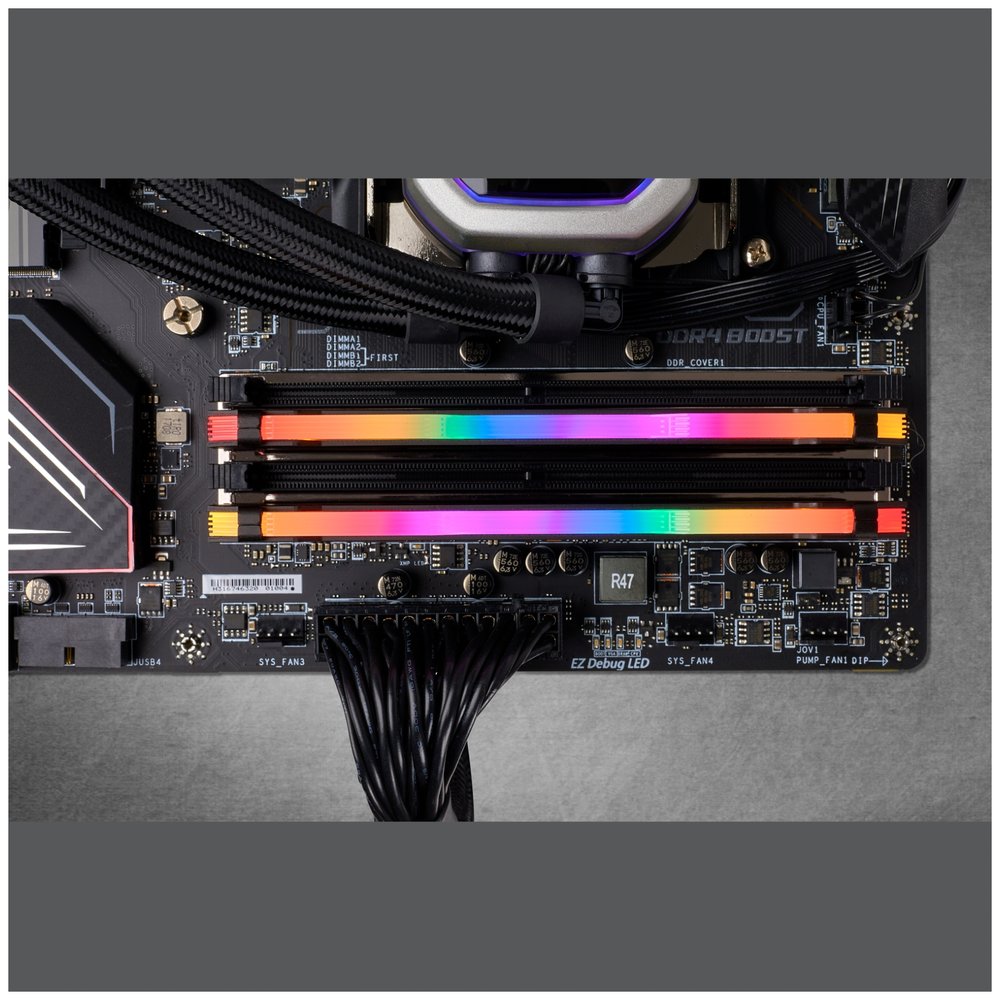 A large main feature product image of Corsair 16GB Kit (2x8GB) DDR4 Vengeance RGB PRO 3600MHz C18