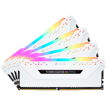 Product image of Corsair 32GB Kit (4x8GB) DDR4 Vengeance RGB PRO White 2666MHz C16 - Click for product page of Corsair 32GB Kit (4x8GB) DDR4 Vengeance RGB PRO White 2666MHz C16