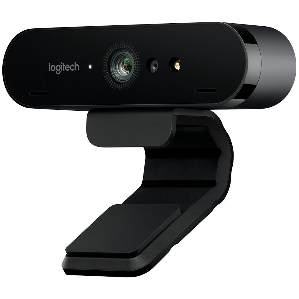 A large main feature product image of Logitech Brio 4K UHD Webcam
