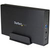 A product image of Startech 3.5in USB 3.0 External SATA Hard Drive Enclosure w/ UASP - Black
