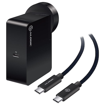 Product image of ALOGIC 60W USB-C Wall Charger w/USB-C Charging Cable - Click for product page of ALOGIC 60W USB-C Wall Charger w/USB-C Charging Cable
