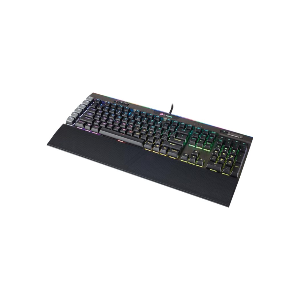 A large main feature product image of Corsair Gaming K95 RGB Platinum Gunmetal Mechanical Keyboard (MX Speed Switch)