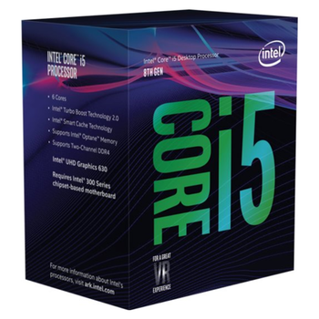Product image of Intel Core i5 8400 2.8GHz Coffee Lake 6 Core 6 Thread LGA1151-CL - Retail Box - Click for product page of Intel Core i5 8400 2.8GHz Coffee Lake 6 Core 6 Thread LGA1151-CL - Retail Box