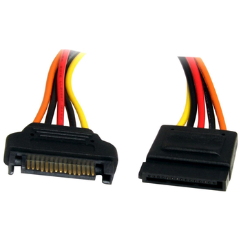 Product image of Startech 12in SATA Power Extension Cable Cord - 15Pin SATA Power M/F - Click for product page of Startech 12in SATA Power Extension Cable Cord - 15Pin SATA Power M/F