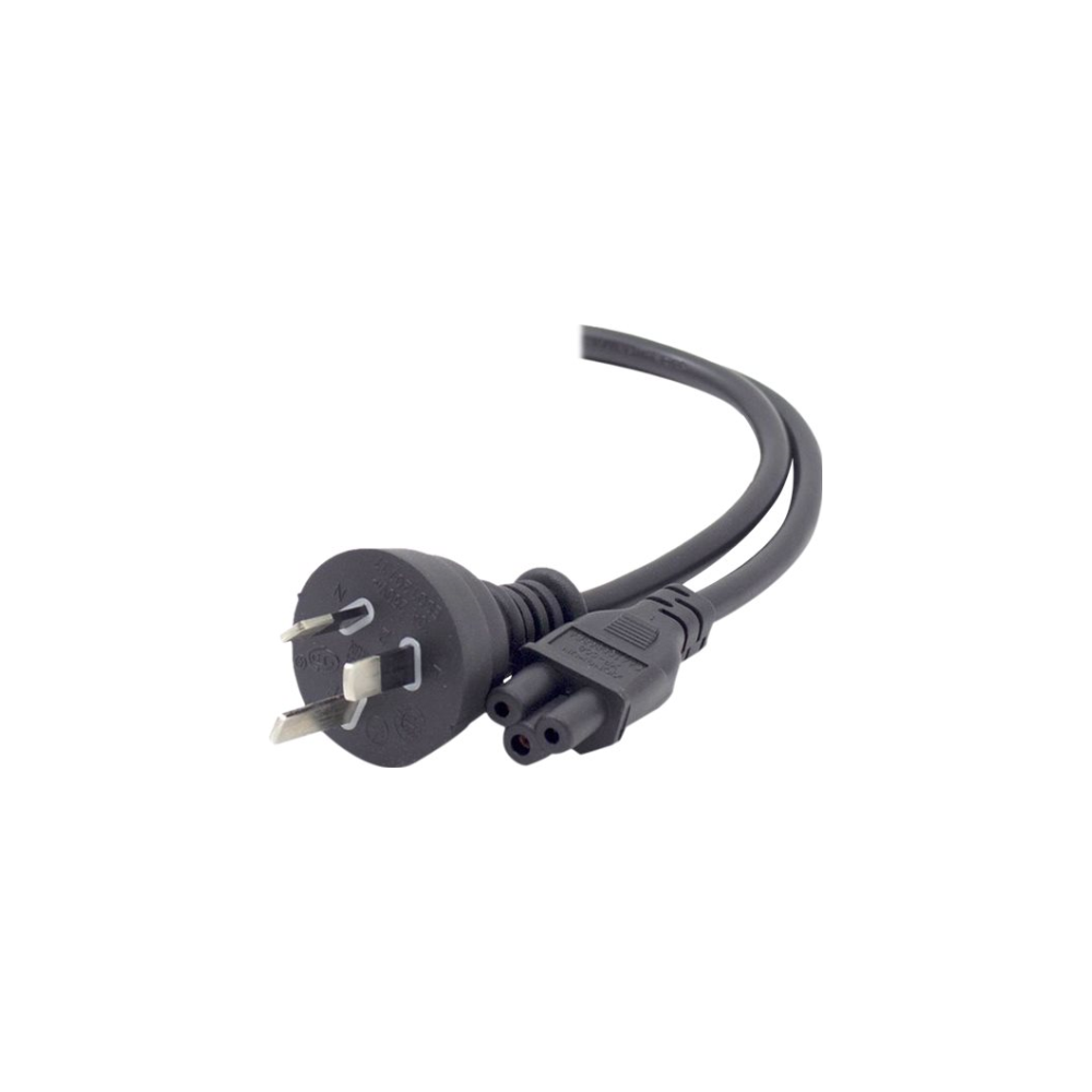 A large main feature product image of ALOGIC 3m Aus 3 Pin Mains Plug to IEC C5  Male to Female