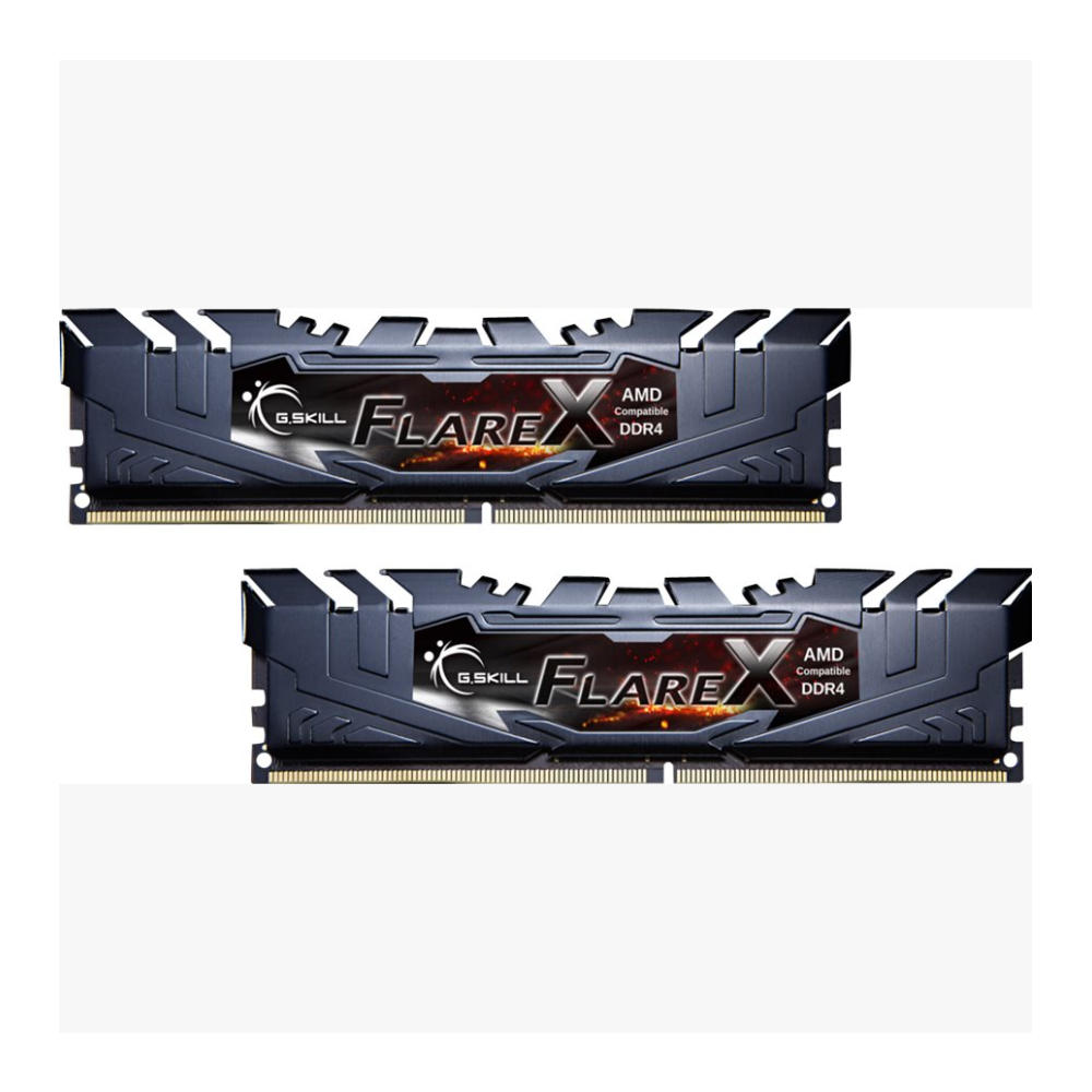 A large main feature product image of G.Skill 16GB Kit (2x8GB) DDR4 Flare X C14 3200MHz (For AMD)