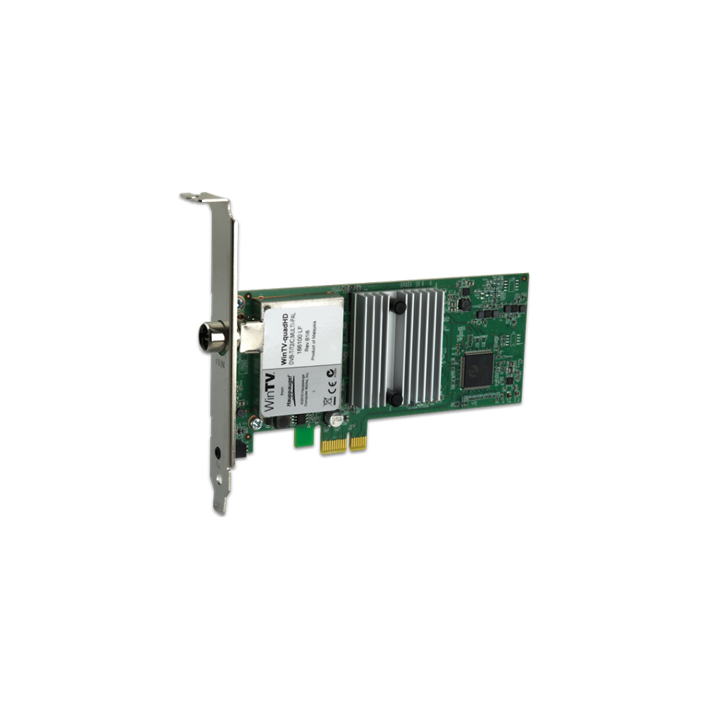 A large main feature product image of Hauppauge QuadHD PCIe TV Tuner Card