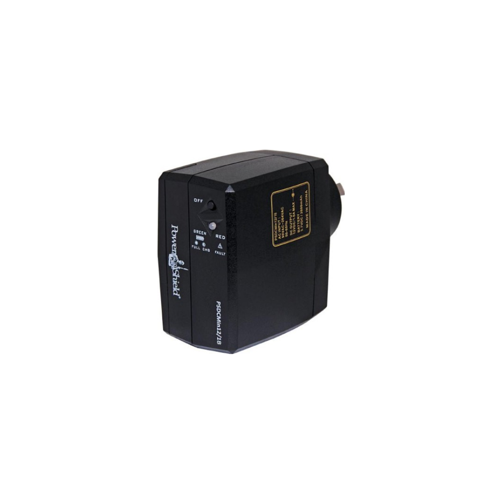 A large main feature product image of Power Shield DC Mini 12V/18W UPS