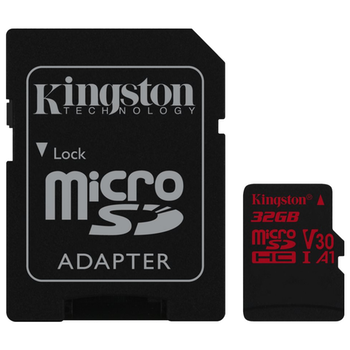 Product image of Kingston Canvas React 32GB Class 10 UHS-1 MicroSD Card (inc. SD Adapter) - Click for product page of Kingston Canvas React 32GB Class 10 UHS-1 MicroSD Card (inc. SD Adapter)