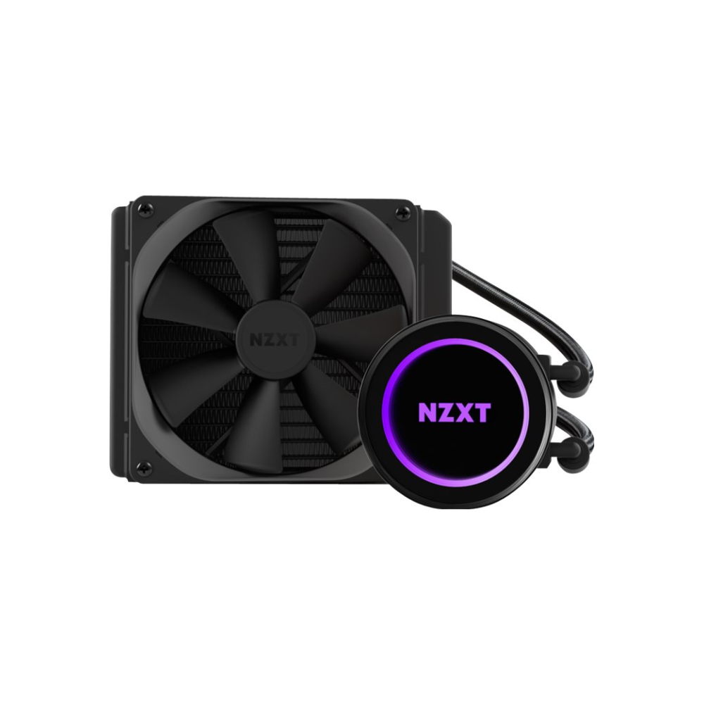 A large main feature product image of NZXT Kraken X42 140mm AIO Liquid CPU Cooler
