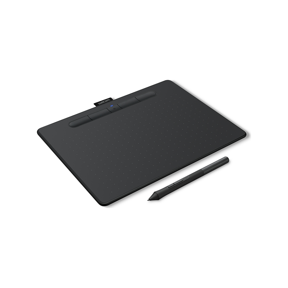 A large main feature product image of Wacom Intuos Medium Bluetooth Drawing Tablet - Black
