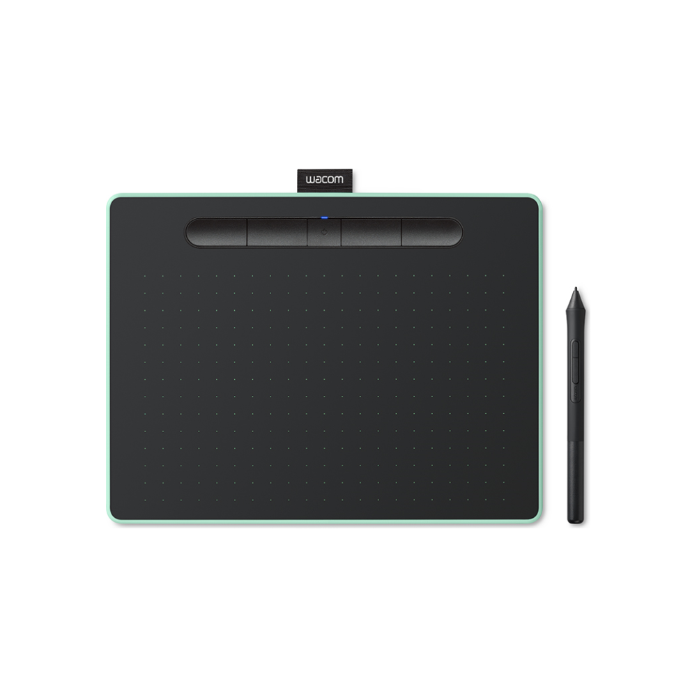 A large main feature product image of Wacom Intuos Medium Bluetooth Drawing Pad - Pistachio