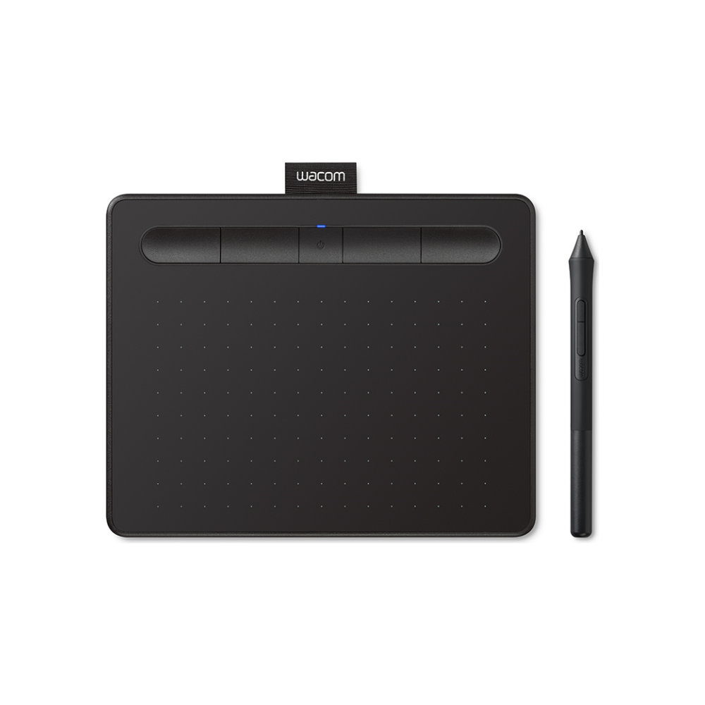 A large main feature product image of Wacom Intuos Small Bluetooth Drawing Tablet - Black