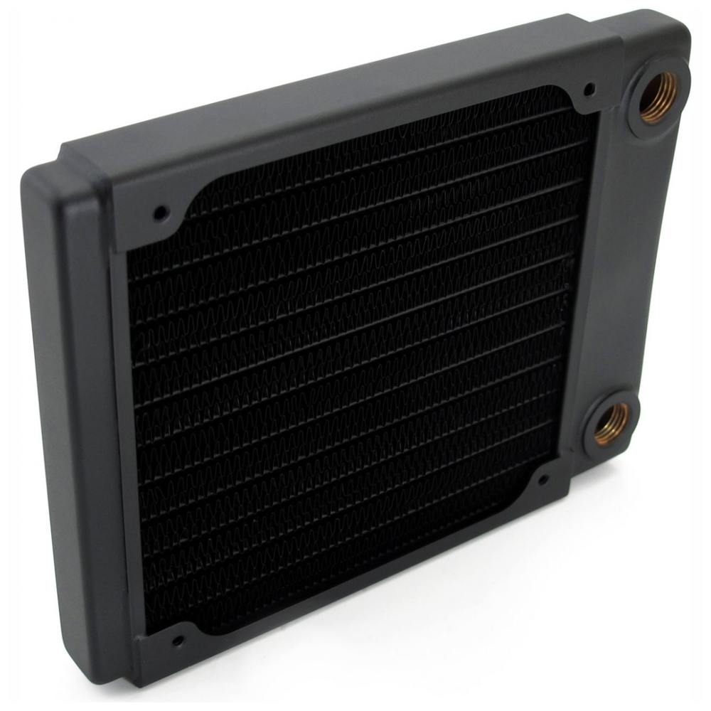 A large main feature product image of XSPC TX120 Single Fan 120mm Ultrathin Radiator