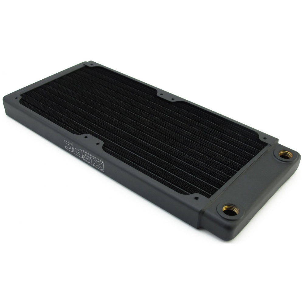 A large main feature product image of XSPC TX240 Dual Fan 240mm Ultrathin Radiator