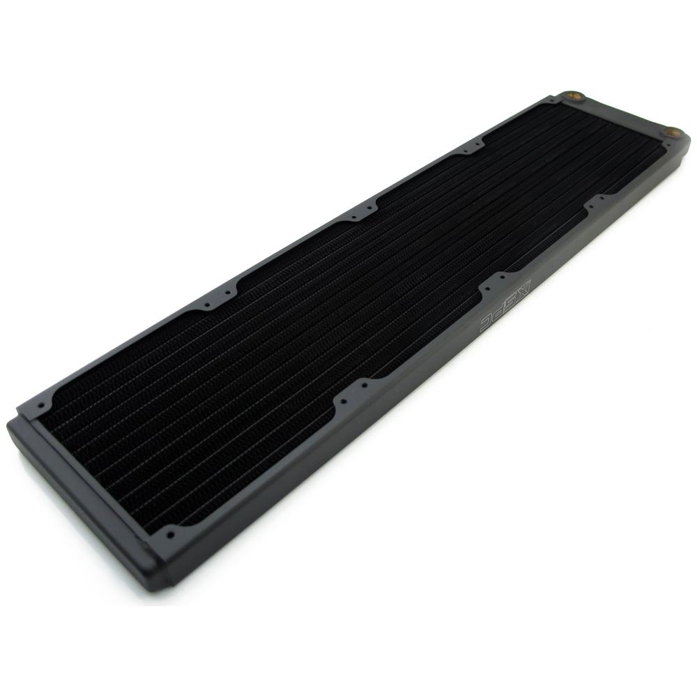 A large main feature product image of XSPC TX480 Quad Fan 480mm Ultrathin Radiator