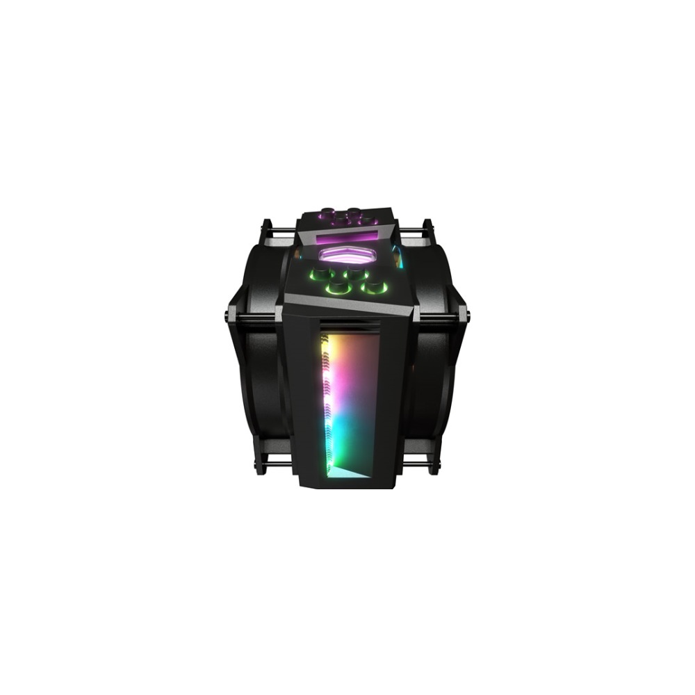 A large main feature product image of Cooler Master MasterAir MA410M Addressable RGB CPU Cooler