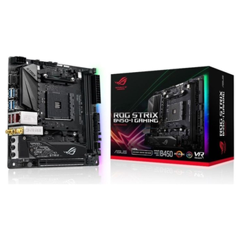 Product image of ASUS ROG Strix B450-I Gaming AM4 mITX Desktop Motherboard - Click for product page of ASUS ROG Strix B450-I Gaming AM4 mITX Desktop Motherboard