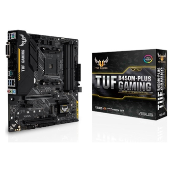 Product image of ASUS TUF B450M-PLUS Gaming AM4 mATX Desktop Motherboard - Click for product page of ASUS TUF B450M-PLUS Gaming AM4 mATX Desktop Motherboard