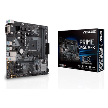 Product image of ASUS PRIME B450M-K AM4 mATX Desktop Motherboard - Click for product page of ASUS PRIME B450M-K AM4 mATX Desktop Motherboard