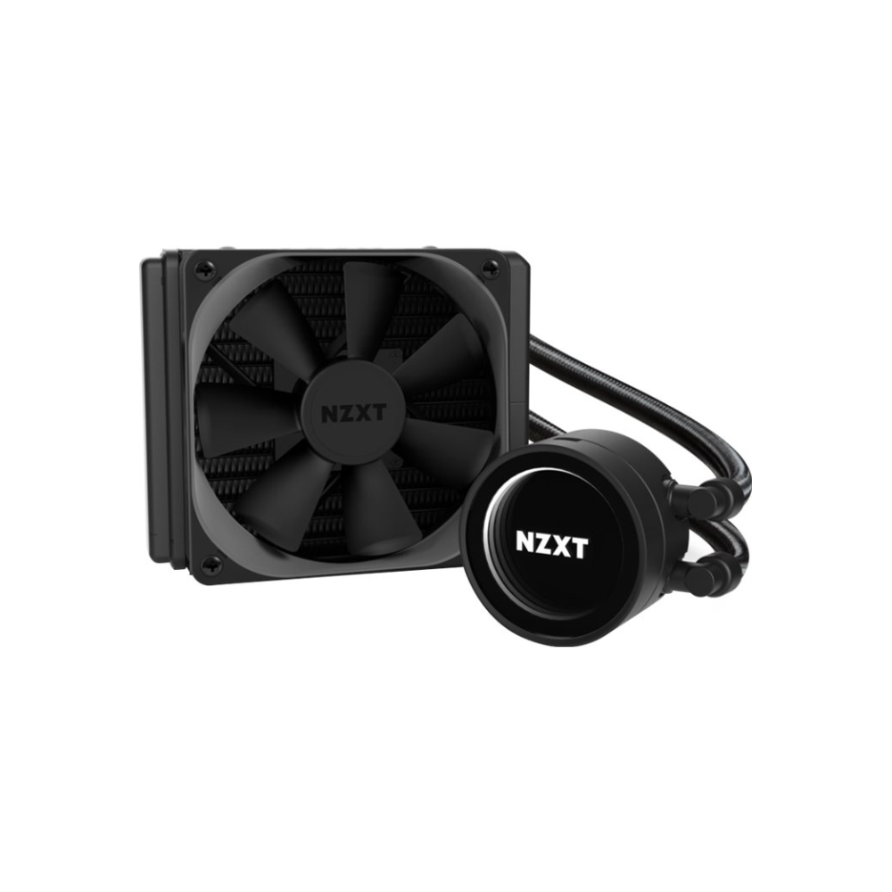 A large main feature product image of NZXT Kraken M22 120mm AIO Liquid CPU Cooler