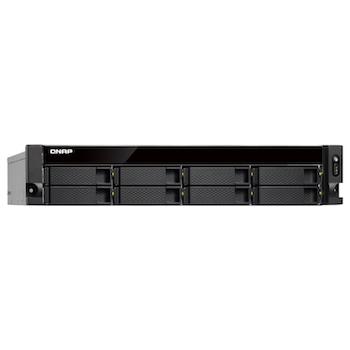 Product image of QNAP TS-873U 2.1Ghz 8GB 8 Bay 2RU Rackmount NAS w/ Redundant Power Supply - Click for product page of QNAP TS-873U 2.1Ghz 8GB 8 Bay 2RU Rackmount NAS w/ Redundant Power Supply
