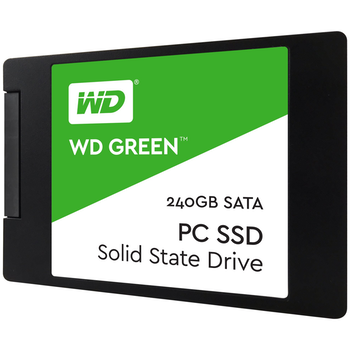 "Product image of WD Green 240GB 3D NAND 2.5"" SSD - Click for product page of WD Green 240GB 3D NAND 2.5"" SSD"