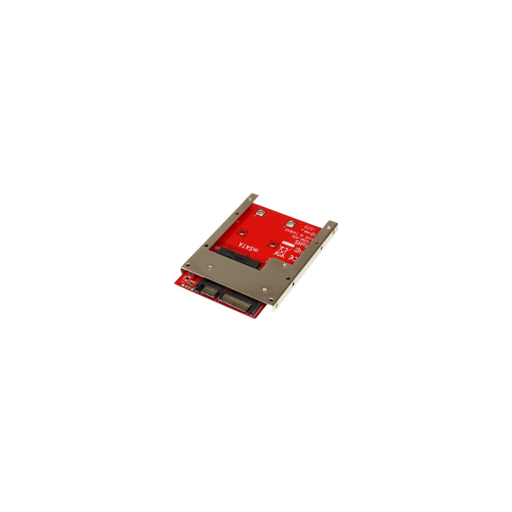 A large main feature product image of Startech mSATA SSD to 2.5in SATA Adapter Converter w/ Open Frame