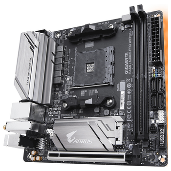 Product image of Gigabyte B450I AORUS Pro WiFi AM4 mITX Desktop Motherboard - Click for product page of Gigabyte B450I AORUS Pro WiFi AM4 mITX Desktop Motherboard