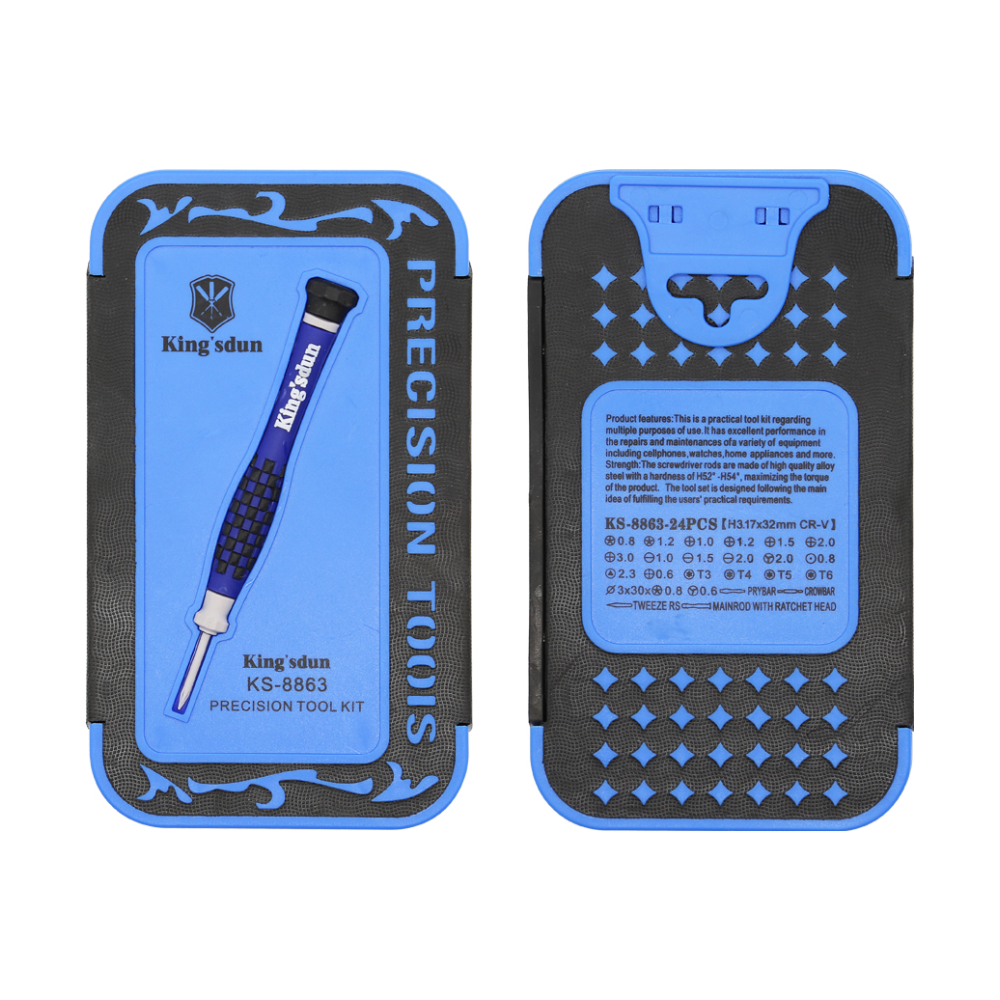 A large main feature product image of King'sdun 24 in 1 Precision Household Magnetic Repair Screwdriver Set