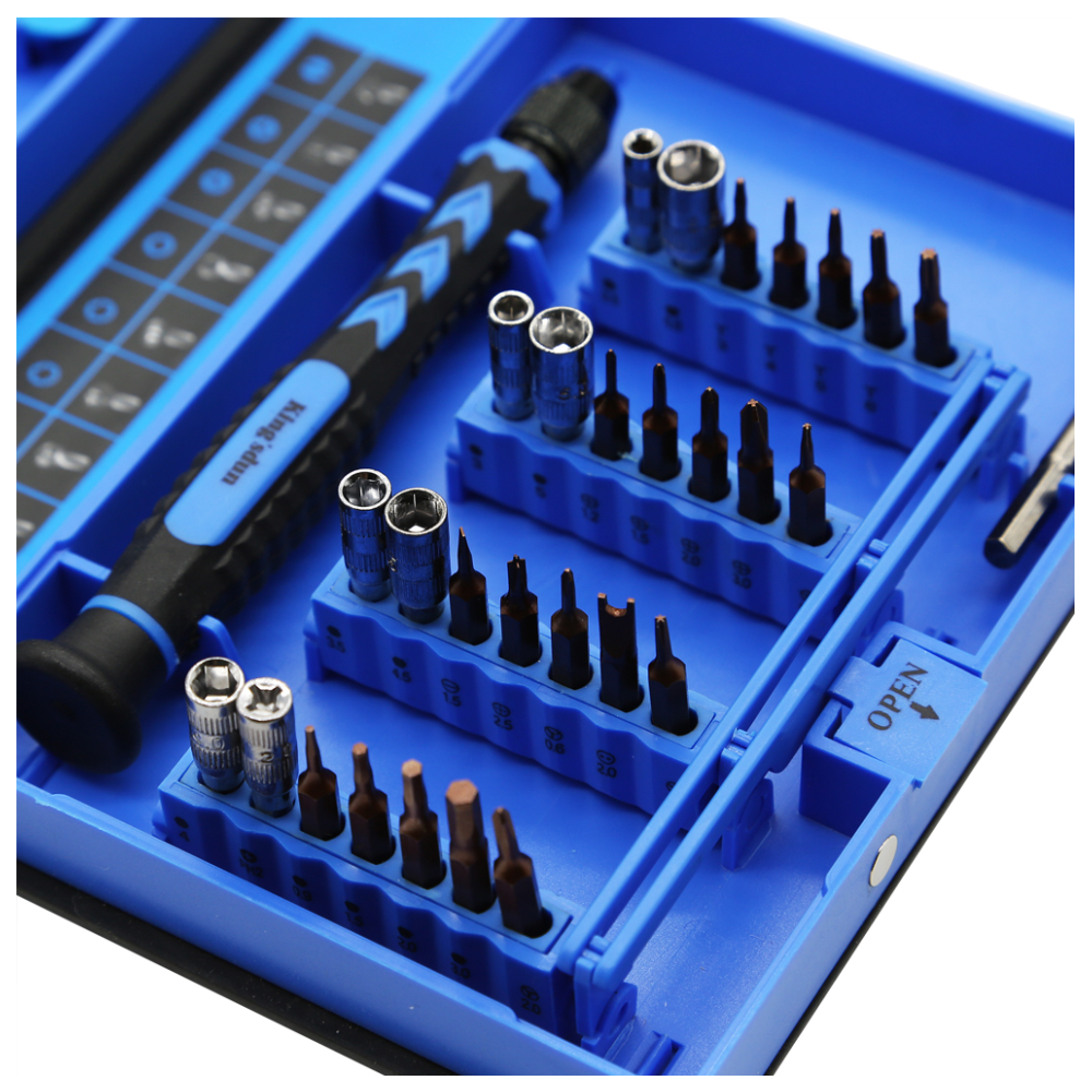 A large main feature product image of King'sdun 38 in 1 S2 Precision Screwdriver Tool Set for iPhone