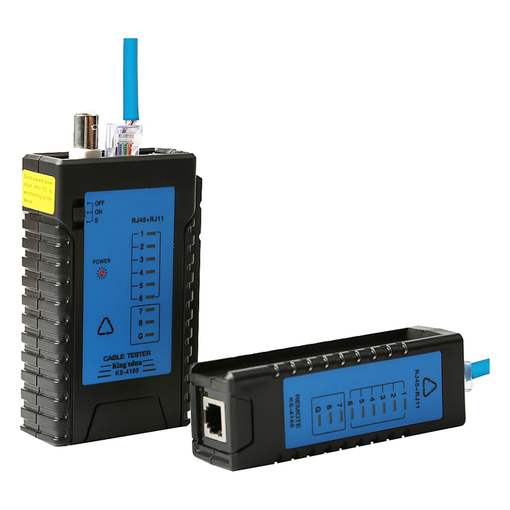 A large main feature product image of King'sdun RJ45 Cat6 LAN Cable Tester Set