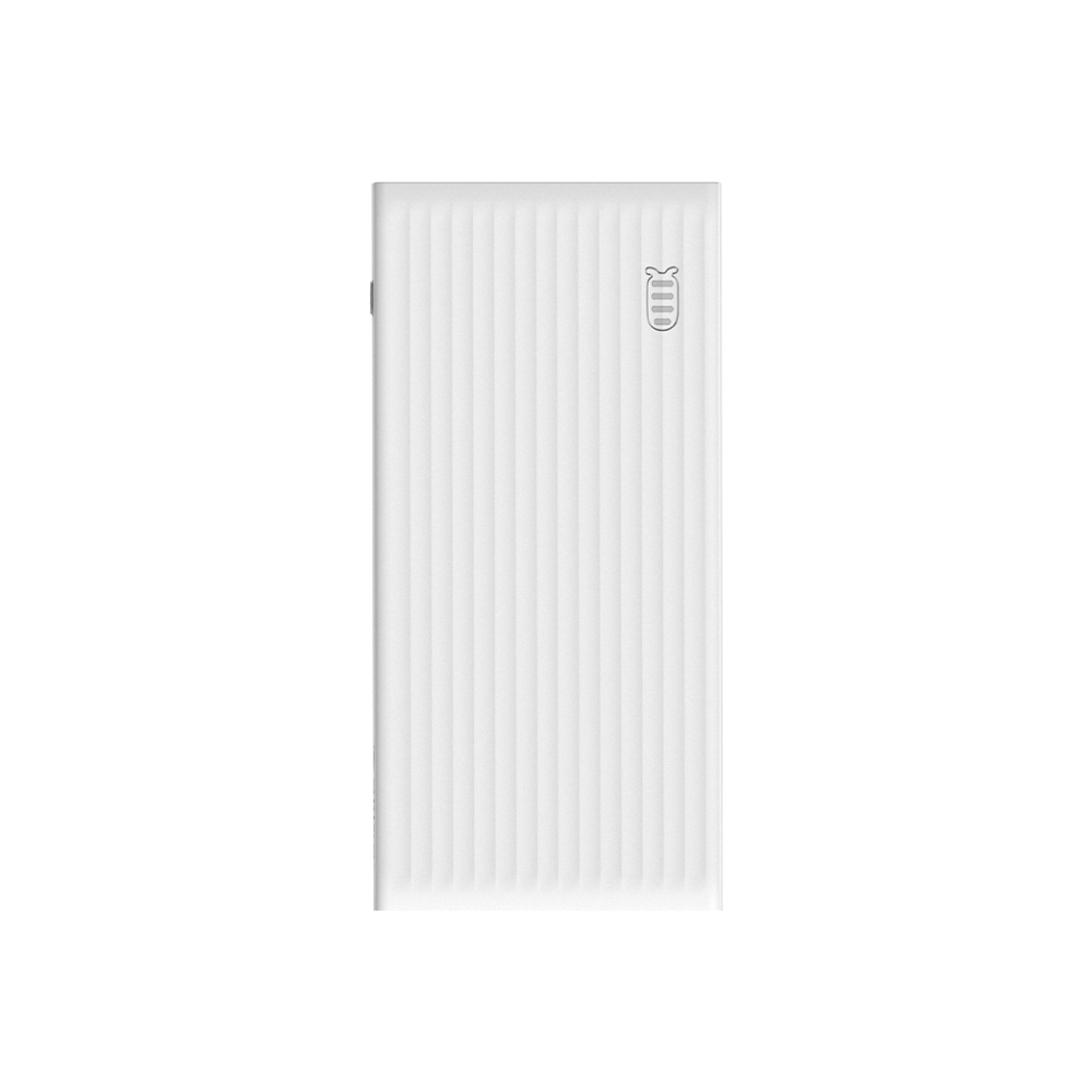 A large main feature product image of ORICO 10000mAh USB-A Type-C & Micro B Smart Power Bank - White