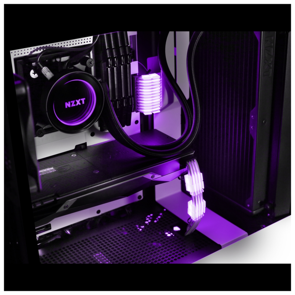 A large main feature product image of NZXT Hue 2 RGB Cable Comb Accessory Kit