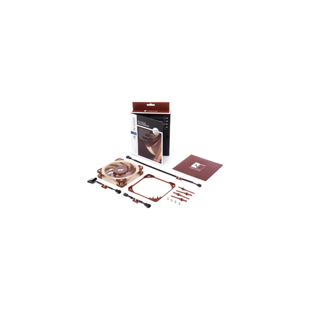 A large main feature product image of Noctua NF-A12x25-ULN Cooling Fan