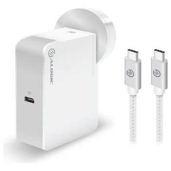 Product image of ALOGIC USB-C Wall Charger 60W – Travel Edition – Includes USB-C Charging Cable – White - Click for product page of ALOGIC USB-C Wall Charger 60W – Travel Edition – Includes USB-C Charging Cable – White
