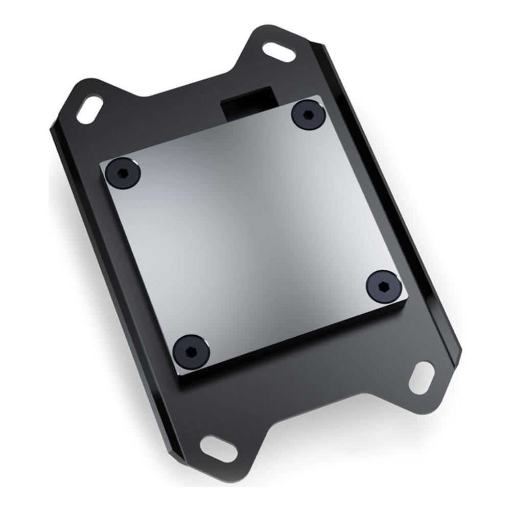 A large main feature product image of EK Velocity RGB AMD Nickel Plexi CPU Waterblock