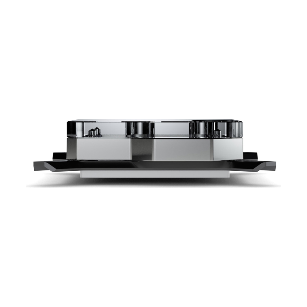 A large main feature product image of EK Velocity RGB Intel Nickel Plexi CPU Waterblock
