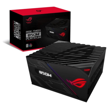 Product image of ASUS ROG Thor 850W 80PLUS Platinum Modular Power Supply - Click for product page of ASUS ROG Thor 850W 80PLUS Platinum Modular Power Supply