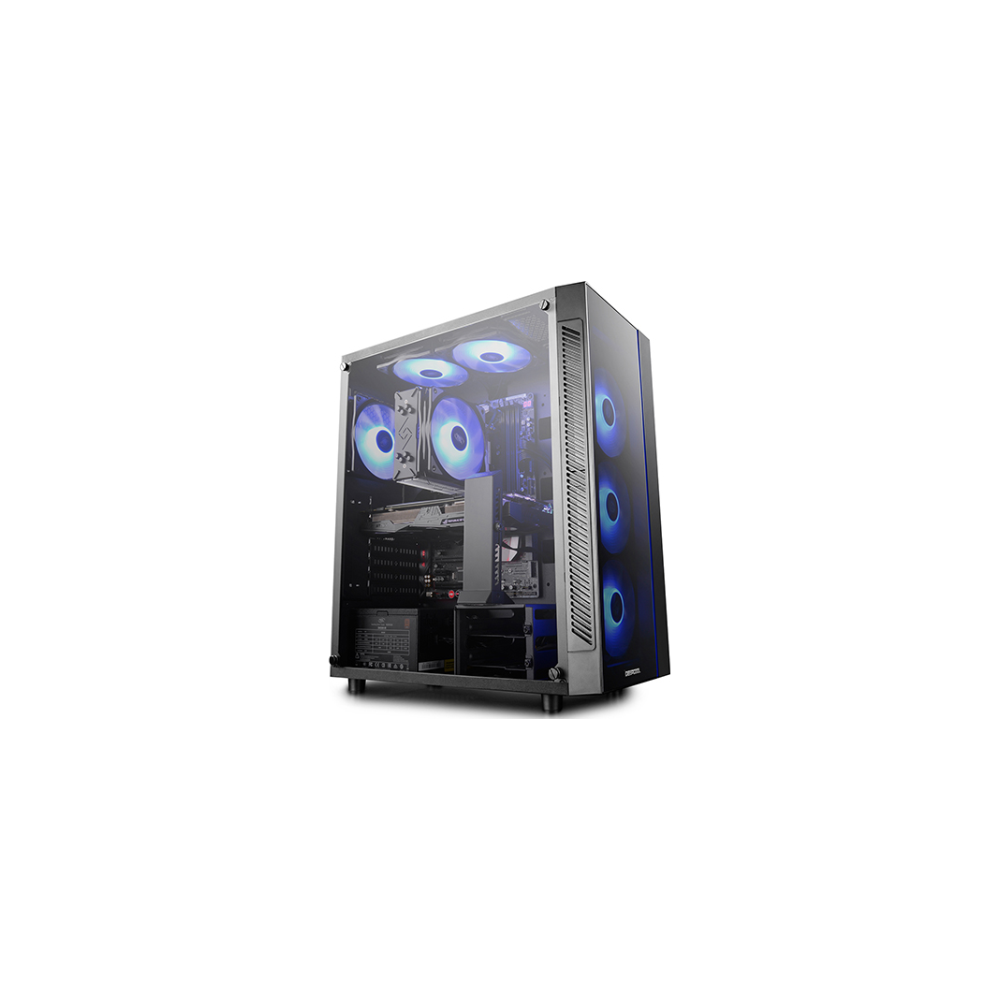 A large main feature product image of Deepcool Matrexx 55 RGB Mid Tower Case w/ Tempered Glass Side Panel