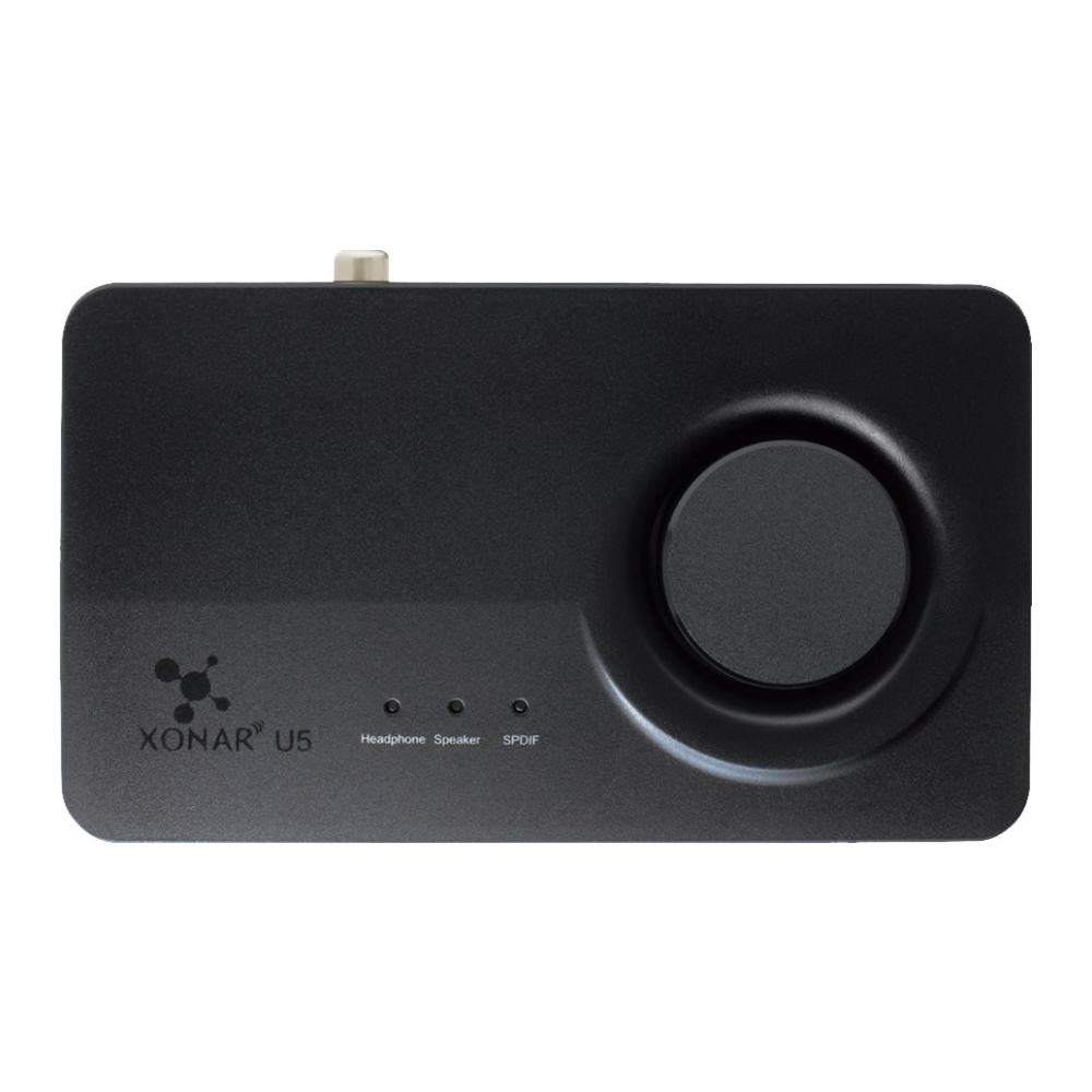 A large main feature product image of ASUS Xonar U5 5.1 USB Sound Card
