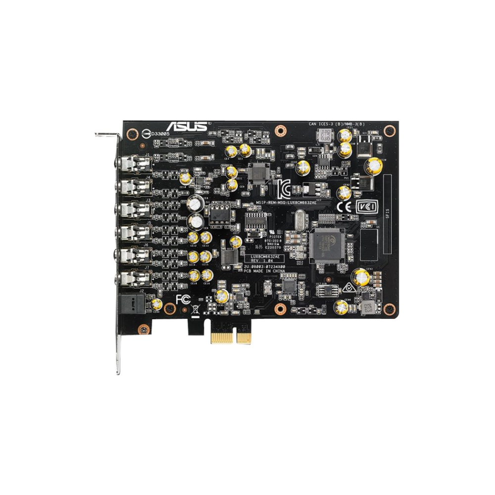 A large main feature product image of ASUS Xonar AE 7.1 PCIe Sound Card