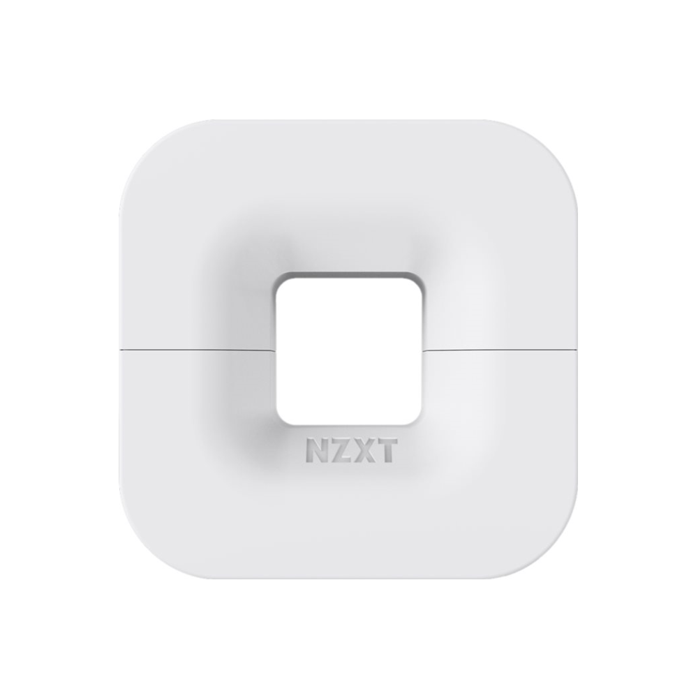 A large main feature product image of NZXT Puck Headset Hanger White