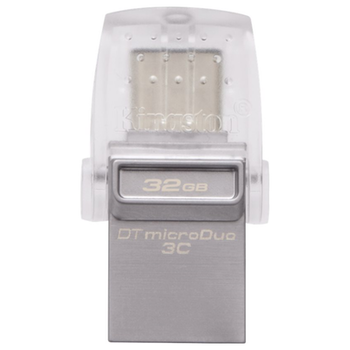 Product image of Kingston DataTraveler MicroDuo 3C USB Type-A & C USB 32GB 3.0 Flash Drive - Click for product page of Kingston DataTraveler MicroDuo 3C USB Type-A & C USB 32GB 3.0 Flash Drive