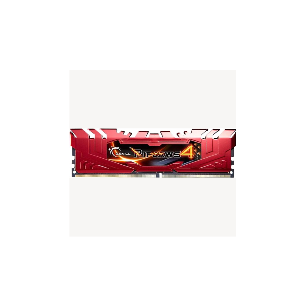 A large main feature product image of G.Skill 8GB Kit (2x4GB) DDR4 Ripjaws 4 Red C15 2400MHz